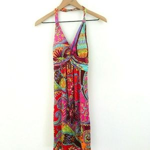 Muse Printed V-Neck Halter Dress 2